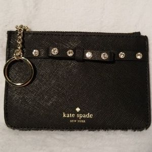 Kate spade card holder key chain NWT